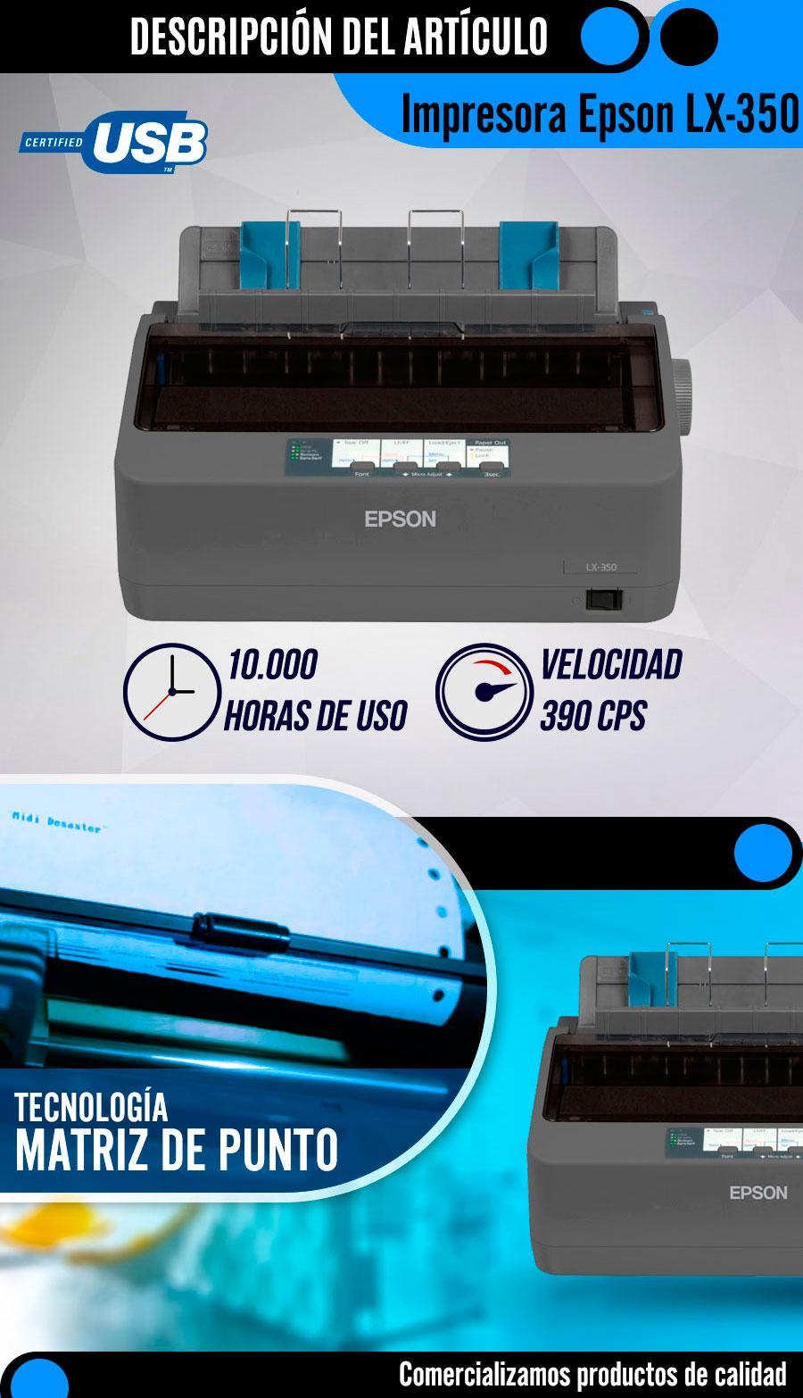Impresora Matricial Epson Lx 350 174